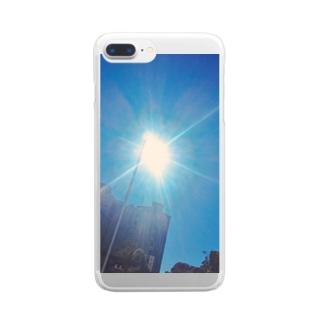 台風晴れのあそこ Clear smartphone cases