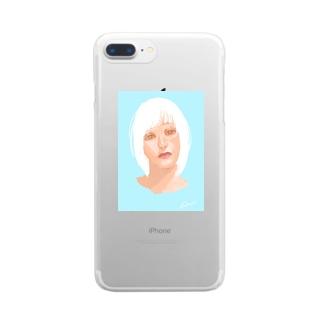 白ちゃん Clear smartphone cases