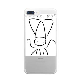 イカですが、何か? Clear smartphone cases