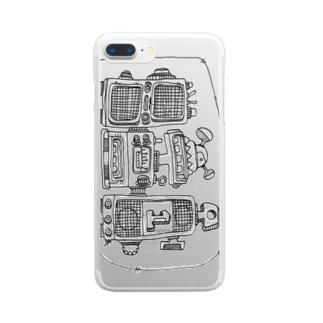 ラジカセ Clear smartphone cases