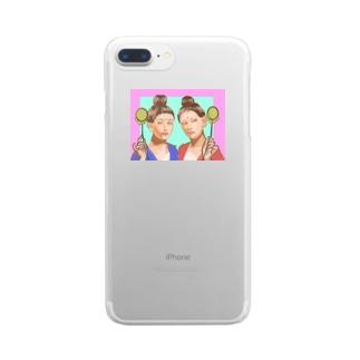 月光菩薩ちゃんと日光菩薩ちゃん Clear smartphone cases