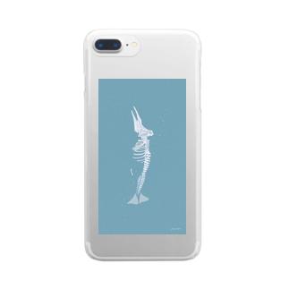 クジラの骨 Clear smartphone cases