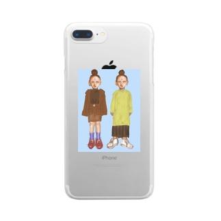 日光菩薩ちゃんと月光菩薩ちゃん Clear smartphone cases