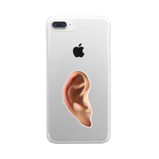 かべに耳あり Clear smartphone cases