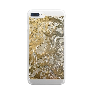 Engrave photo brass T Clear smartphone cases