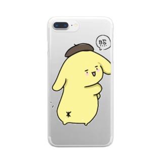 ポムポムプリン Clear smartphone cases
