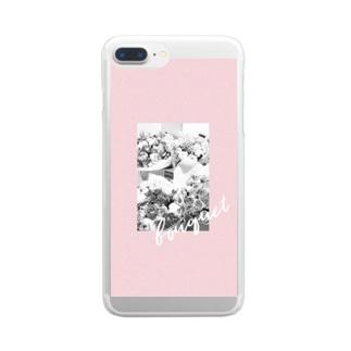 ブーケモノクロ Clear smartphone cases