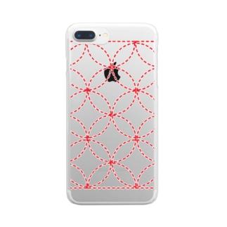 刺し子 Clear smartphone cases