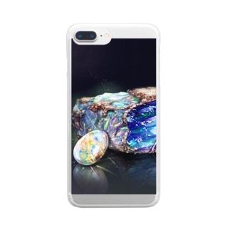 宝石シリーズ オパール  Clear smartphone cases