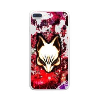 狐面 焔 Clear smartphone cases