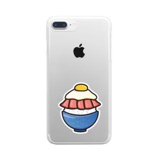 目玉焼き丼15【ローストビーフ】 Clear smartphone cases