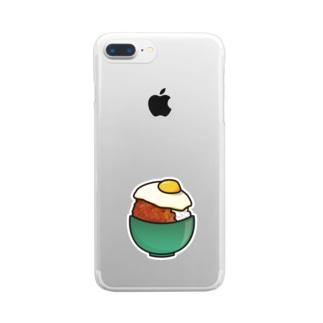目玉焼き丼16【そぼろ】 Clear smartphone cases