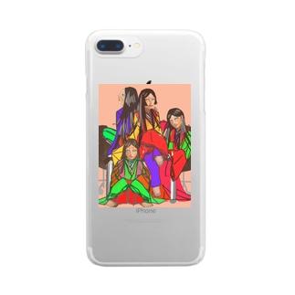 十二単ちゃんずの休み時間 Clear smartphone cases