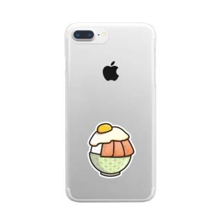 目玉焼き丼31【スパム】 Clear smartphone cases