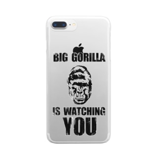 BIG GORILLA IS WATCHING YOU Clear smartphone cases