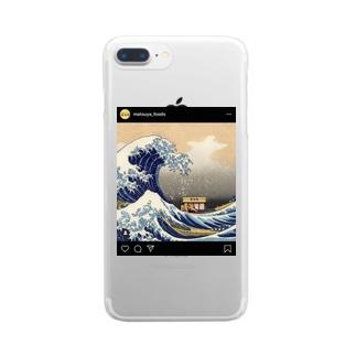松屋グッズ Clear smartphone cases