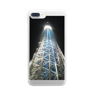 スカイツリー Clear smartphone cases