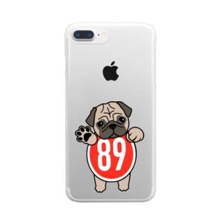 パグ-ぱぐ-PUG-パーグー グッズ Clear smartphone cases