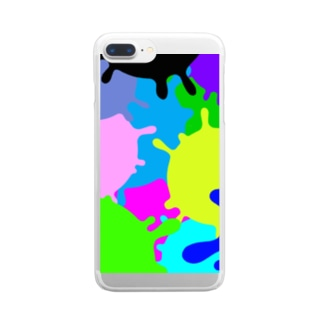 カラフル スミー柄 Clear smartphone cases