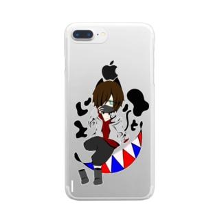 ドロんちょ Clear smartphone cases