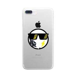 パ紋No.3426 稲妻 Clear smartphone cases