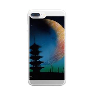 五重塔&UFO Clear smartphone cases