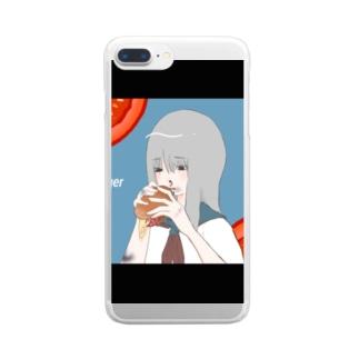 昼夜を問わず Clear smartphone cases