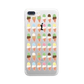 アイスクリーム Clear smartphone cases