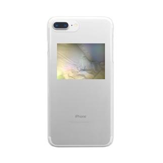 おやすみゴースト Clear smartphone cases