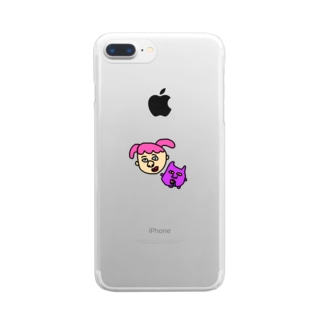 ねじとおばけ Clear smartphone cases