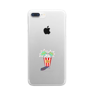 ポップコーン Clear smartphone cases