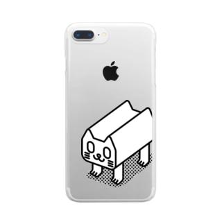 ネ-コ Clear smartphone cases