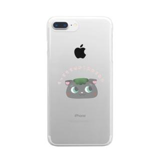 もっちもちの柏餅ねこ Clear smartphone cases