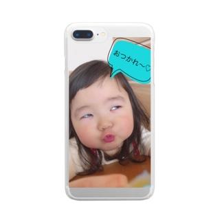 おつかれさまで〜す(^^) Clear smartphone cases