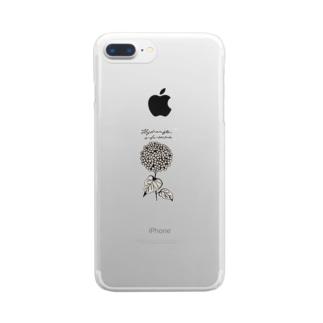 植物図鑑シリーズ...アナベル Clear smartphone cases