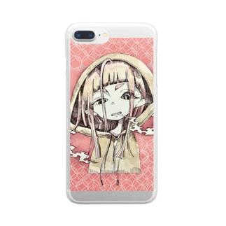 桜餅ちゃん Clear smartphone cases