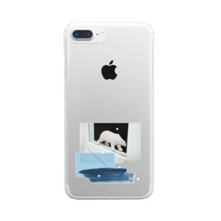 シロクマ Clear smartphone cases