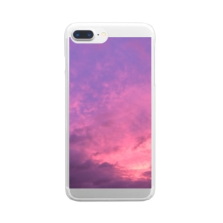 pink in the sky Clear smartphone cases