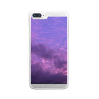 purple in the sky Clear smartphone cases