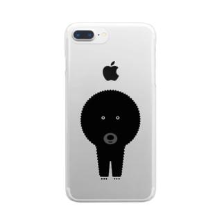 まりもちゃん Clear smartphone cases