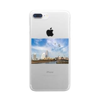 みなとみらいロープウェー Clear smartphone cases