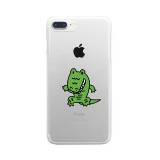 わに Clear smartphone cases