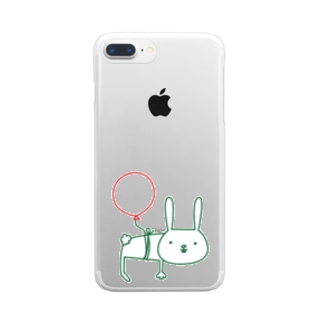 ウサギサン Clear smartphone cases