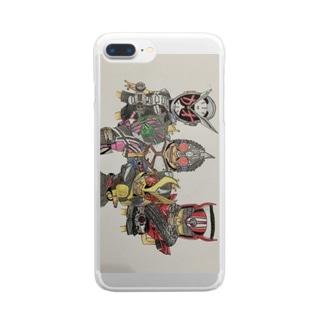 英雄たち Clear smartphone cases