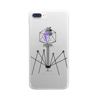 ファージ Clear smartphone cases