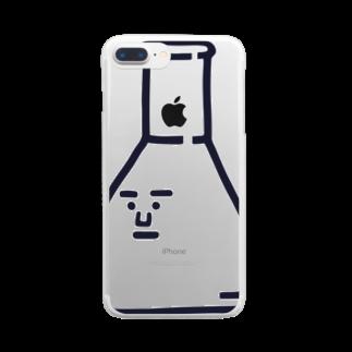うえたに夫婦のキャラNo.2三角フラスコくん《シンプルver》 Clear smartphone cases
