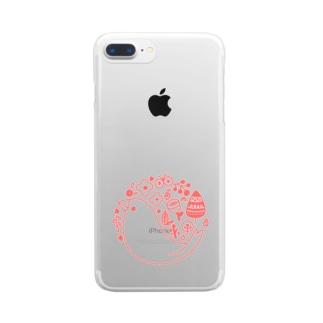 北欧風ロゴマーク文鳥 Clear smartphone cases