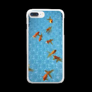 ごちゃごちゃの金魚 Clear smartphone cases