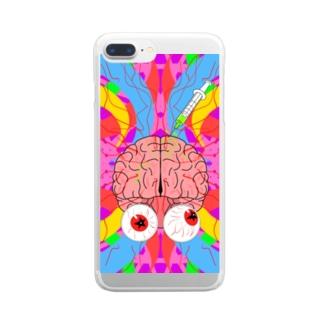 脳 活性化 Clear smartphone cases