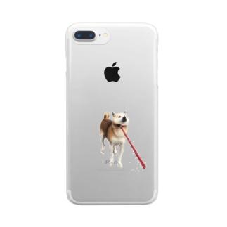 散歩いやいや犬 Clear smartphone cases
